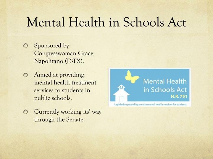 Mental Health in Schools Act