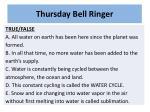 thursday bell ringer