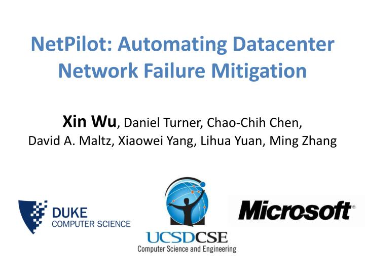 netpilot automating datacenter network failure mitigation n.