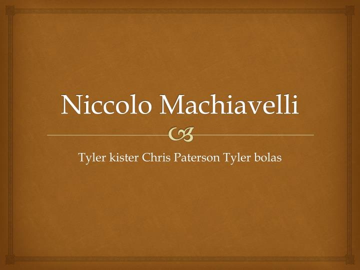 niccolo machiavelli n.