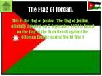 the flag of jordan
