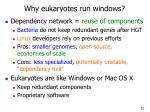 why eukaryotes run windows