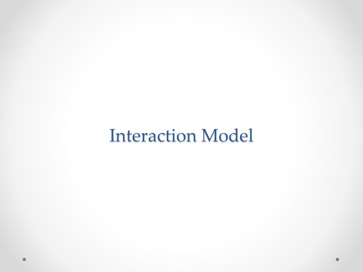 interaction model n.