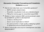 discussion ensemble forecasting and probabilistic guidance hogsett jirak