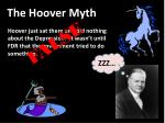 the hoover myth
