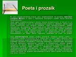 poeta i prozaik