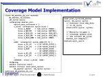 coverage model implementation