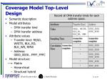 coverage model top level design