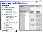 coverage model top level design1