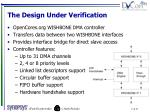 the design under verification