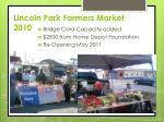 lincoln park farmers market 2010