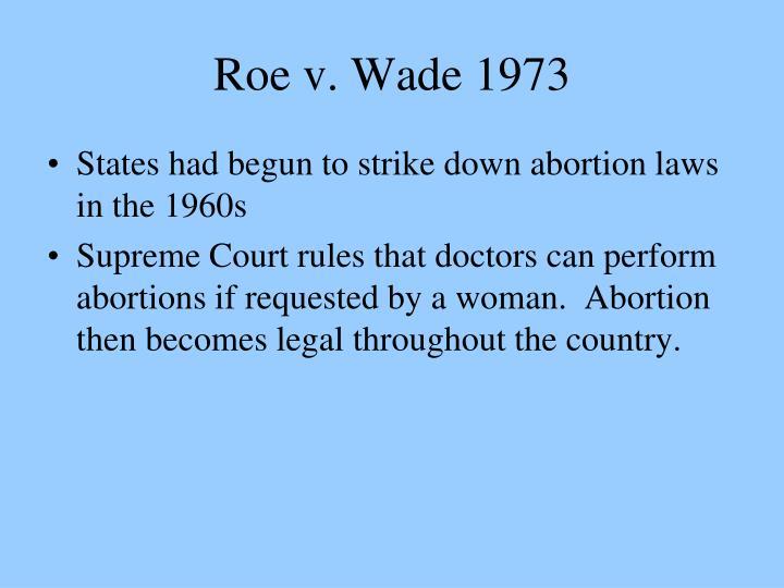 Roe v. Wade 1973