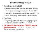 financi le rapportages1
