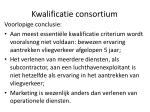kwalificatie consortium2