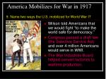 america mobilizes for war in 1917