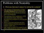 problems with neutrality