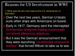 reasons for us involvement in wwi