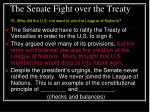 the senate fight over the treaty
