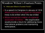 woodrow wilson s fourteen points