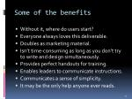 some of the benefits
