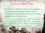 the german offensive falters