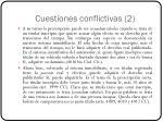 cuestiones conflictivas 2