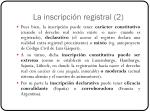 la inscripci n registral 2