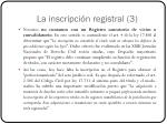 la inscripci n registral 3