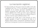 la inscripci n registral