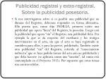 publicidad registral y extra registral sobre la publicidad posesoria