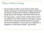 prayer releases energy