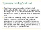 systematic theology and god