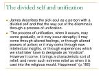 the divided self and unification