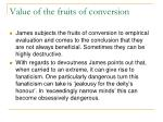 value of the fruits of conversion
