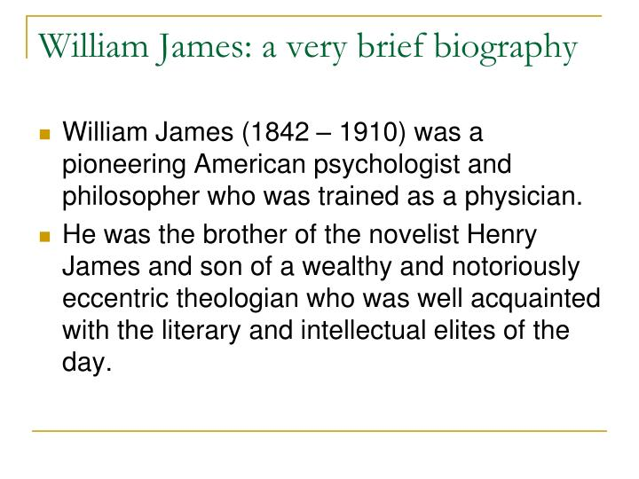 a brief biography of henry james Devoted his life to the investigation, editing, and bibliography of henry james long before it was a fashion even to devote phd theses to him and yet his very assiduousness makes it all the more surprising that he is seldom able to grasp the personality of james in his fiction, except by the crudest association of the author.