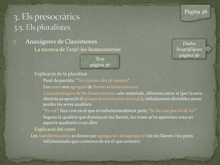 3 els presocr tics 3 5 els pluralistes1