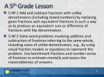 a 5 th grade lesson