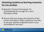 activating students as learning resources for one another1