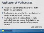 application of mathematics