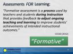 assessments for learning