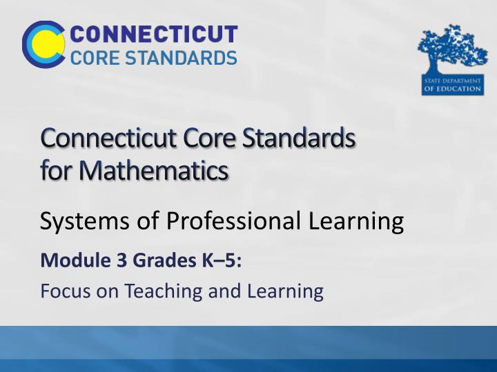connecticut core standards for mathematics n.