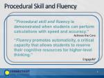 procedural skill and fluency