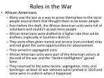 roles in the war1