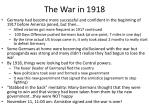 the war in 1918