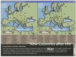 new countries after the war