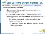user operating system interface cli