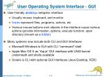 user operating system interface gui