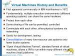virtual machines history and benefits
