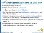 what operating systems do user view