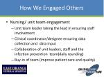 how we engaged others